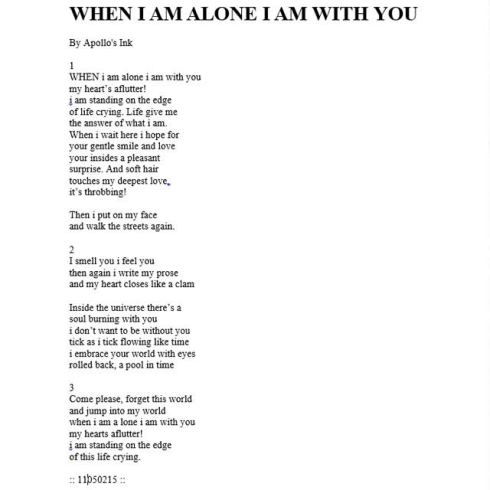 When I Am Alone I am With You.jpg