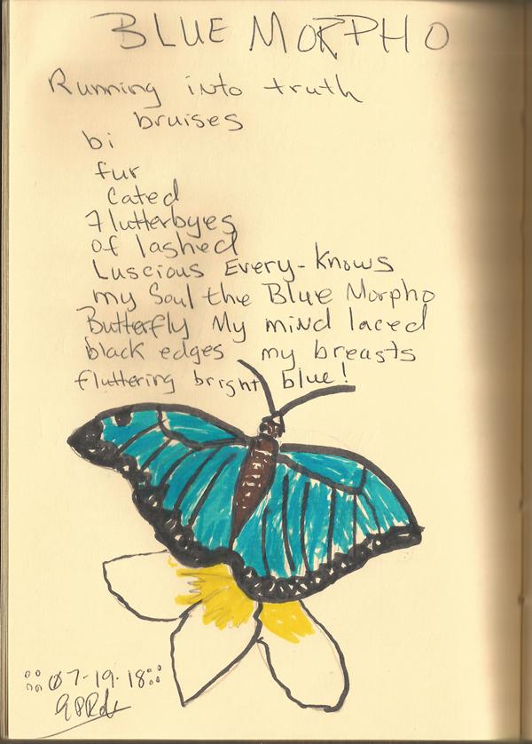 Blue Morpho Poem